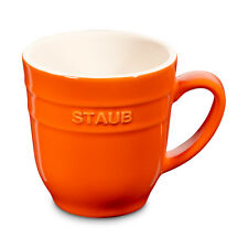 Staub Ceramic Coffee Cup Cocoa cup Tea cup big cup Orange 0,35 L