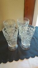 Hazel Atlas Gothic 10 oz. footed tumblers  set of 4