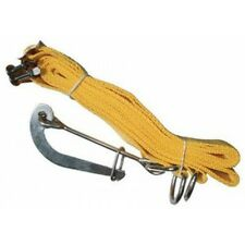 A life raft mounting belt with a hook for boat