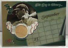 Jimmie Foxx 2002 Fleer Tradition This Day in History GU Bat - PHILADELPHIA A's