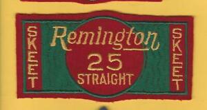 "Vintage Large Felt Remington Skeet 25 Straight Shooting patch (2 1/2"" x 5 1/4"")"