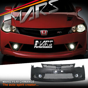 Mugen RR Style Front Bumper Bar for Honda Civic FD Sedan 06-12 Body Kit