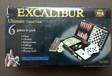 Sealed box Excalibur 6 in 1 game travel vacation  pack Chess Checkers etc