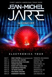 """JEAN-MICHEL JARRE """"1ST NORTH AMERICAN ELECTRONICA TOUR EVER"""" 2017 CONCERT POSTER"""