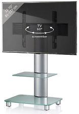 VCM TV Standfuß Tosal Silber mit Zwischenboden