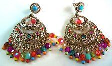 Graziano Signed QVC Colorful dangle pierce earrings Unworn Pretty!