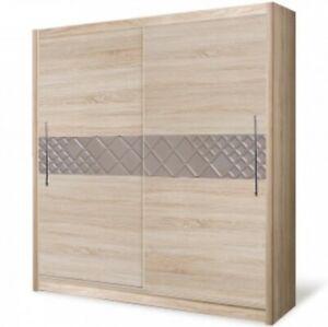 2 Door Sliding Wardrobe-Oak Sonoma/Cappuccino.DOME/DO3-15. BRAND NEW.