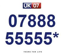07888 55555* Numbers - Gold Memorable Platinum VIP Numbers, Yours For Life