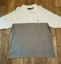 Timberland Boots Outdoor Golf Casual Polo Shirt White Gray Xl Sharp!