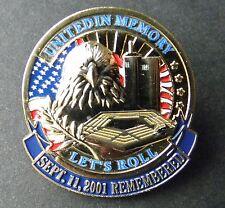 SEPTEMBER 11 2001 TWIN TOWERS PENTAGON MEMORIAL 911 LAPEL PIN BADGE 1 INCH