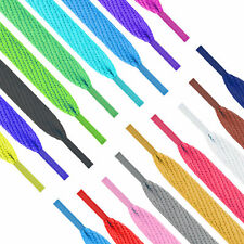Flat Coloured Shoe Laces 10 Colours Shoelaces Football Boots Trainer Shoes