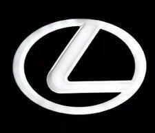 Lexus White 4D LED Emblm Logo 125mm LS270 RX450h CT200 EX250 IS250 IS350 ISF