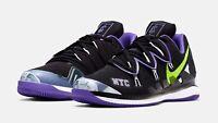 Nike Air Zoom Vapor X Kyrie V 5 NYC US Open Black Volt Purple BQ5952-002 Size 11