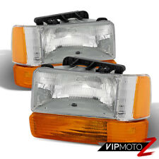 "1991-1996 Dodge Dakota ""FACTORY STYLE"" Corner Bumper Amber Headlights Headlamps"