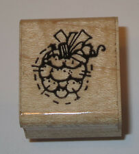 Pine Cone Rubber Stamp Cluster DOTS Trees Wood Mounted DIY Crafts Woods Fall