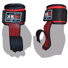 KIKFIT Weight Lifting Gym Straps Hand Bar Gel Wrist Support Wraps Deadlift Grips