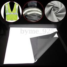 DIY Silver Reflective Fabric Safety Tape Cloth Sew-On Material Highlight 1/2Mx1M