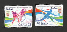 SERBIA-MNH-SET-SPORT-TENNIS-OLYMPICS-OLYMPIC GAMES RIO DE JANEIRO, BRAZIL-2016