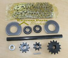 "415 Chain Jackshaft Kit 5/8"" X 10""  Motorized Bicycle, Go Kart, Minibike."