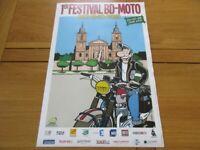 AFFICHE 1ER FESTIVAL MOTO ST DIE FRANCK MARGERIN LUCIEN 2011 VOSGES