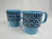 Vintage Royal Alma Ironstone Set of 2 Coffee Mugs Tea Cups Mid Century Modern