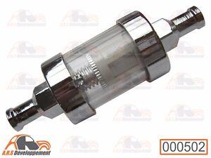 Filter Gasoline Chrome New (Gas Filter) Citroen 2CV Dyane Mehari Friend -502