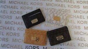 NWT Michael Kors PVC Jet Set Item Card Case Holder