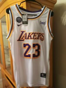 Lebron James White Lakers Jersey Stitched