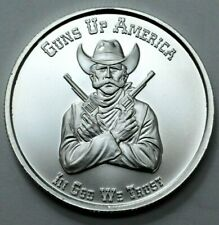 Guns Up America Your Right to Bear Arms 2nd Amendment 1 OZ 999 SILVER ROUND GSM: