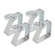 4x Sun Shaped Table Cloth Clips- KitchenCraft Stainless Steel Sunshine