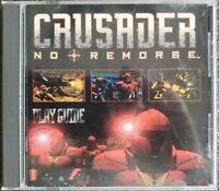 Crusader: No Remorse (PC Game, 1995, Origin) w/ Play Guide Rare HTF OOP VGC