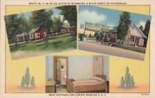Postcard Best Moore's Brick Cottages Richmond Petersburg VA