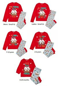 Matching Adult Kids 'Pudding' Family Christmas Pyjama Set Xmas PJ Nightwear