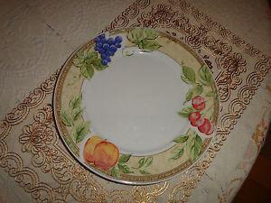 """GIBSON FRUIT GROVE 10 3/4"""" DINNER PLATE"""