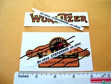 New ListingWurlitzer Jukebox machine Water Release Decals 1940,s vintage vending clear back