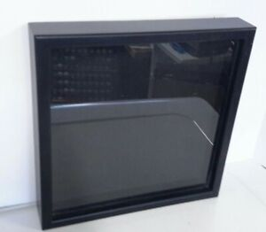 """Wall Shadow Box Cabinet Display Case Black Plastic Collector's Hobby 13"""" x 13"""""""