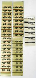 42 Walter Hagen Golf Shaft Band Labels: 28 ProFlex S,  9 ProFlex L, 5 The Haig