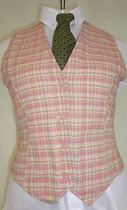 Reed Hill Saddleseat Vest Ladies Watermelon Pink Tweed size 20  - Made in USA