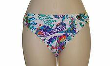 Ralph Lauren bikini swim bottom swimsuit size 14 white paisley hipster womens