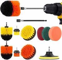 Herrfilk Drill Brush Attachment Set-12 Pieces Power Scrubber Brush for Kitchen a