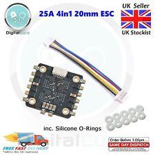 Mini 25A 4-in-1 ESC BLHeli_S 20x20mm 2-4S ESC Dshot600 Oneshot Multishot- F3 20A