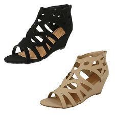 Sandali e scarpe da sera nero per il mare da donna 100% pelle