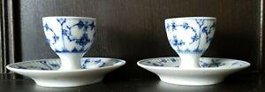 Royal Copenhagen Blue & White Egg Cups (×2), Date 1969 - 74.
