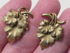 12k gold  leaf earrings