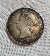 More details for canada 25 cents 1871 victoria silver coin avf rare