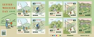 2021 Japan Letter Writing Day 63y stamp sheet Unused