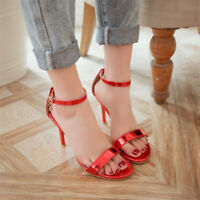 Womens Ankle Strap High Heels Open Toe Stilettos Fashion Sandals Clubwear Shoes