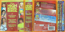 BOX 3 DVD film HIGH SCHOOL MUSICAL + THE CONCERT + 2 sigillato DISNEY no vhs(D3)