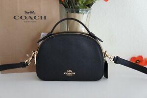 NWT Coach 1589 Serena Crossgrain Leather Satchel Crossbody Handbag Black $328
