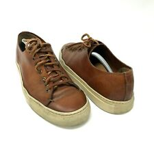 BUTTERO Stone Brown Leather Tanino Low Shoes Sneakers Size 44 US